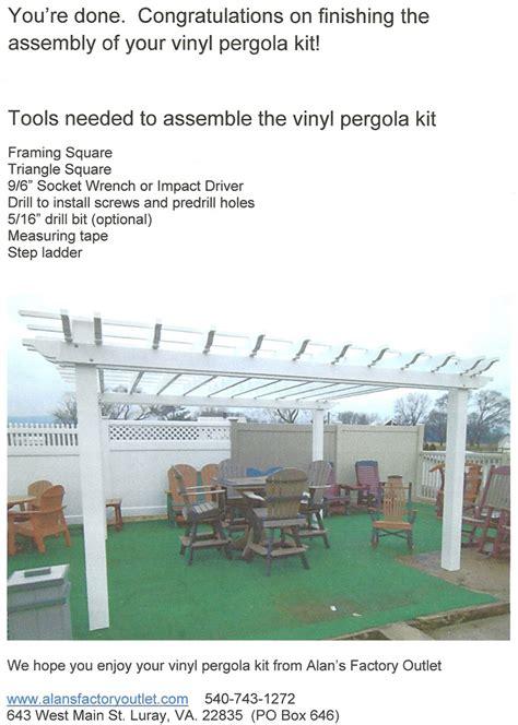 pergola kits prices vinyl pergola kit prices