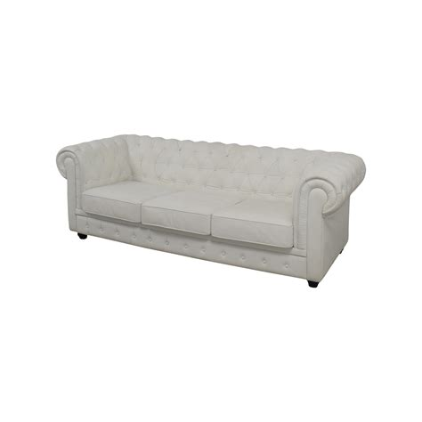 chesterfield white leather sofa 89 off chesterfield white tufted leather sofa sofas