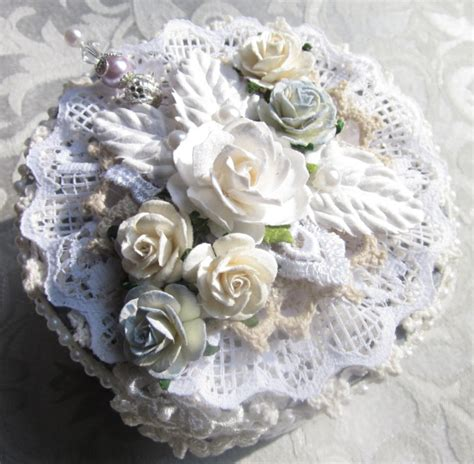gray shabby chic flowers by shabby chic gift trinket memory box gray w venice lace faux pearl stick pin mulberry paper