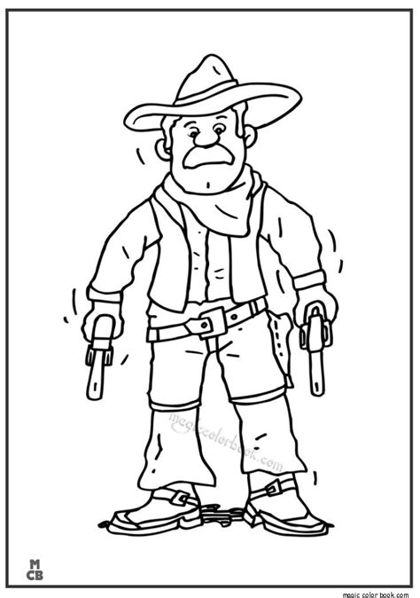 Cowboy Pictures To Color by Cowboy And Coloring Pages