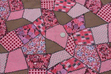 Material For Patchwork - pink patchwork print vintage cotton quilting fabric