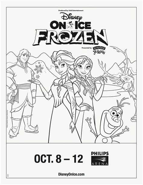 savvy and sassy disney on ice frozen coloring sheet and