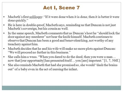 themes of macbeth in act 1 macbeth summary act 1 scene 7