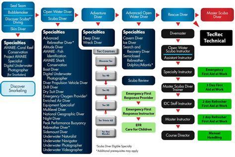 Padi Course padi courses flow chart dive machine