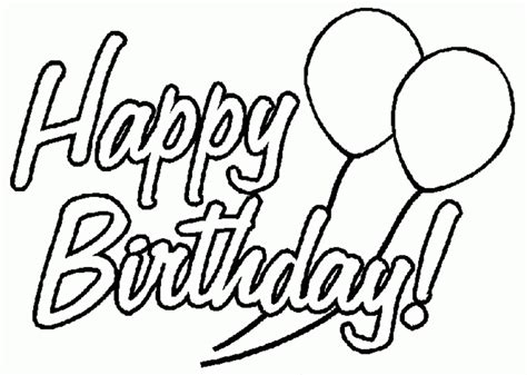 Coloring Pages Of Birthday Cards birthday card coloring pages coloring home