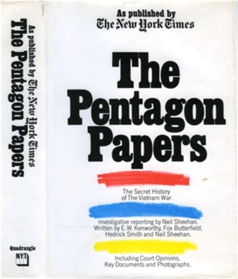 the pentagon papers the secret history of the war books the pentagon papers as published by the new york times
