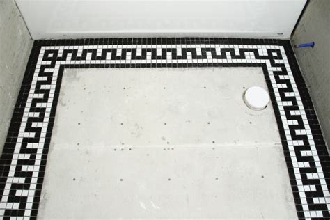 black and white border tiles for bathroom vintage mosaic tile border for the downstairs bathroom