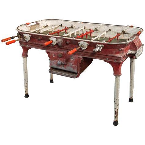 1920s Home Decor Vintage Cast Aluminum Foosball Table At 1stdibs