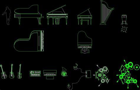 musical instruments dwg block  autocad designs cad