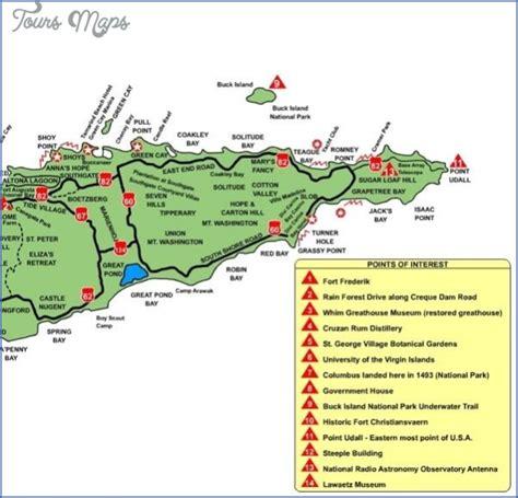 st croix map caribbean croix map toursmaps