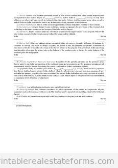 Free Real Estate Installment Sale Contract Form Sample Real Estate Installment Sales Contract Template