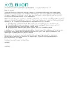 cover letter tem leading professional team members sle cover letter