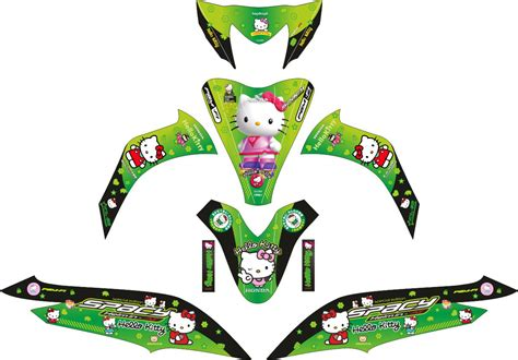 Striping Honda Spacy Hello Kittyi комплект наклеек на скутер honda spacy hello