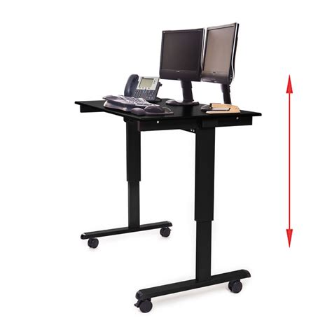 Standing Desk Electric by Luxor Stande 48 Bk Bo 48 Electric Standing Desk Black