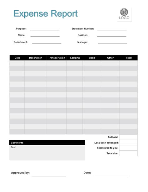 report form 2018 expense report form fillable printable pdf forms