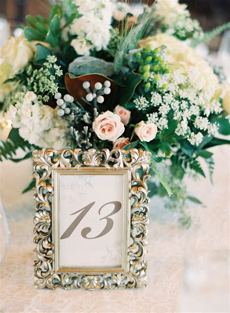 silver frames for wedding table numbers table number in silver frame elizabeth designs the