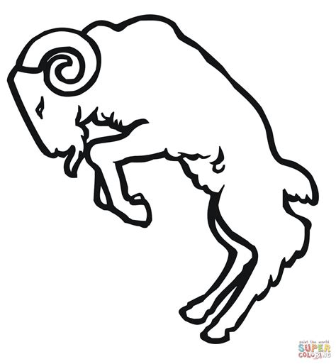 la rams coloring sheet coloring pages