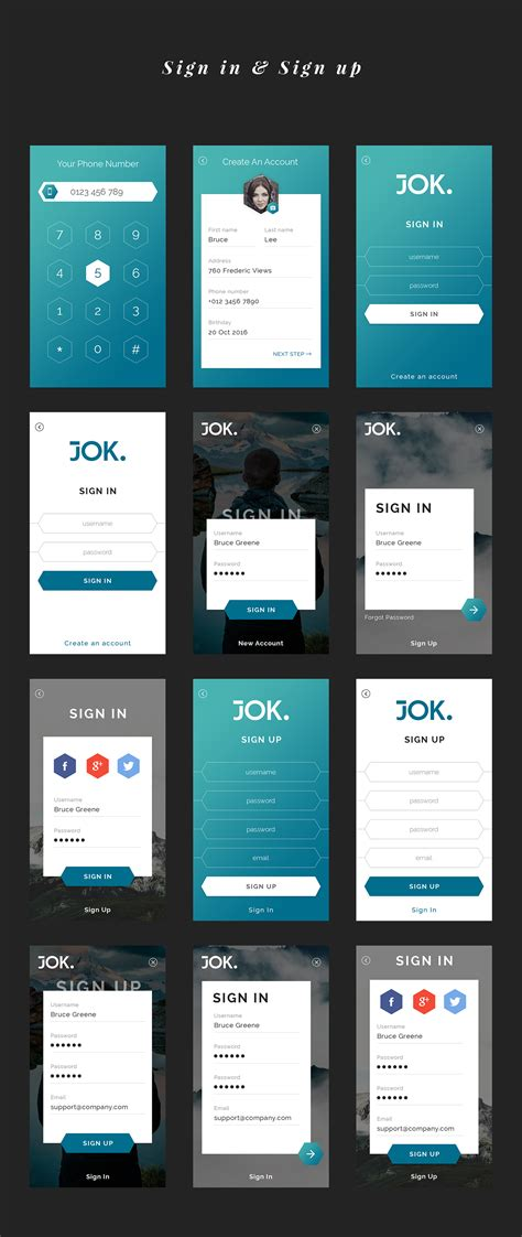 mobile ui themes theme download graphicriver jok mobile ui kit my free