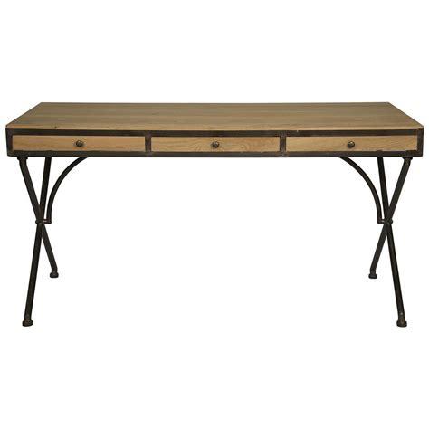 rustic industrial desk benny rustic industrial wood metal desk kathy kuo home