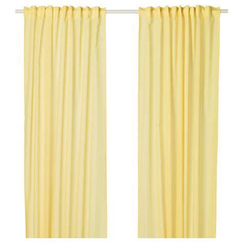yellow curtains ikea vivan curtains 1 pair yellow 145x250 cm ikea