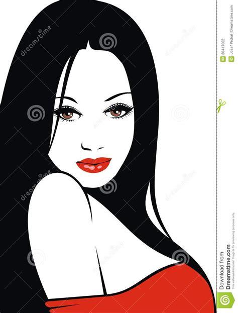 imagenes de labios a blanco y negro cara f 225 cil de la mujer con los labios rojos y el pelo