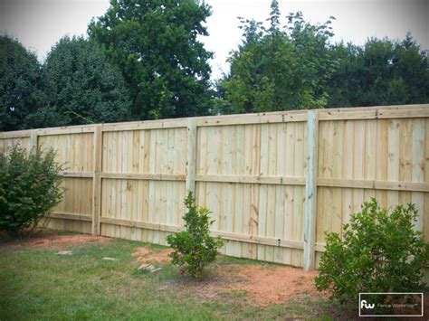 the henderson wood privacy fence home fencing and gates atlanta by fence workshop