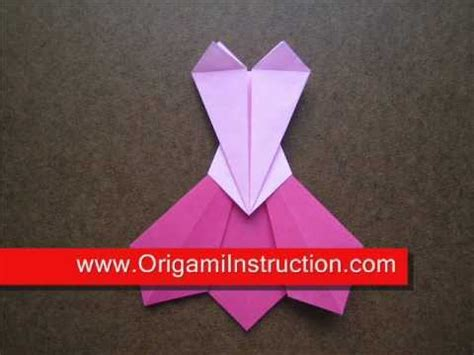 How To Make A Paper Dress Origami - how to make an origami prom dress