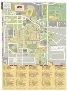 arizona state tempe cus map arizona state maplets