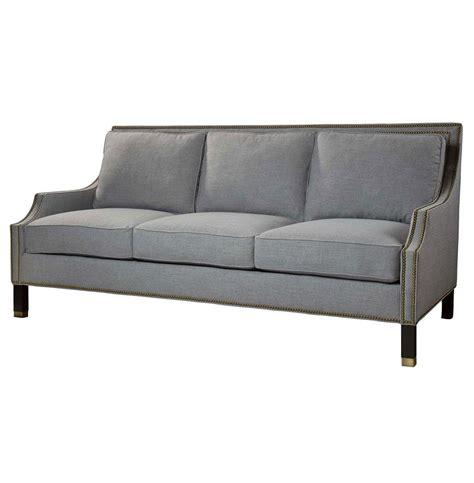 Masculine Sofas huntley silver grey linen masculine regency style condo sofa