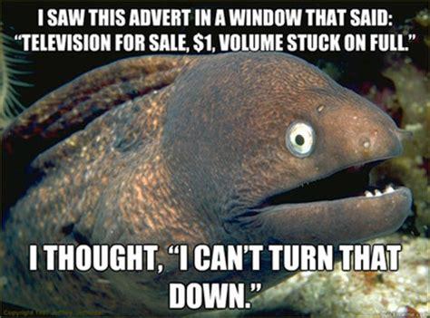Bad Joke Eel Meme - bad joke eel meme goes shopping for a new tv