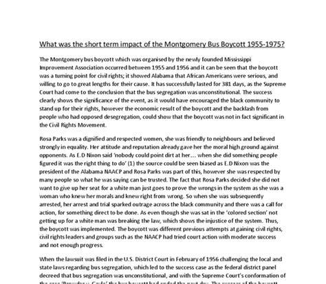 Montgomery Boycott Essay by Montgomery Boycott Essays