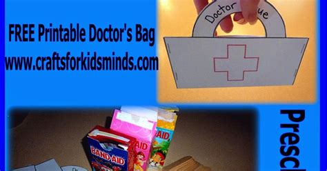 doctor bag craft template crafts for minds free printable preschool doctor