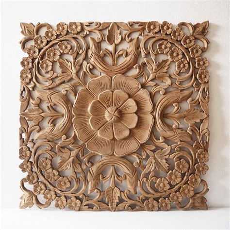 Wood Panel Wall Decor Wooden Wall Panel From Thailand Siam Sawadee