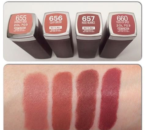 Maybelline Matte bellynim maybelline new matte shades swatch lipstic