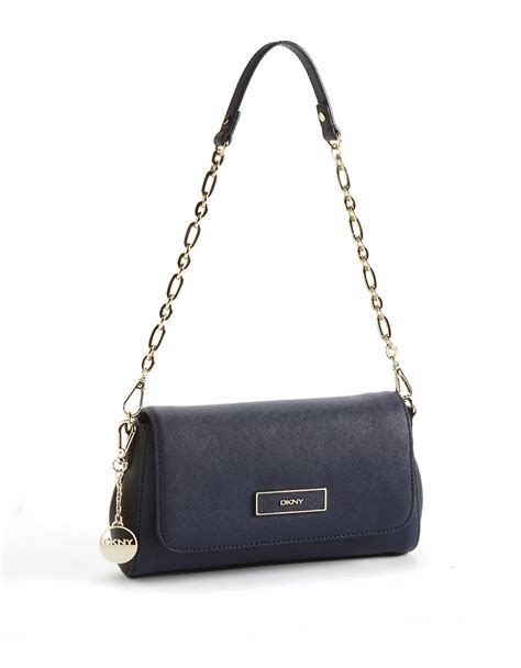 Dkny Dk01 Sea Blue A dkny leather convertible clutch bag in blue lyst