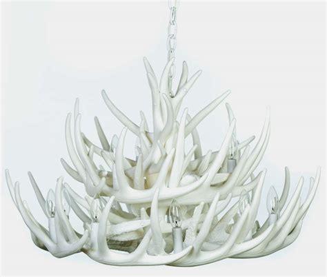 white antler chandelier white antler lights white whitetail 21