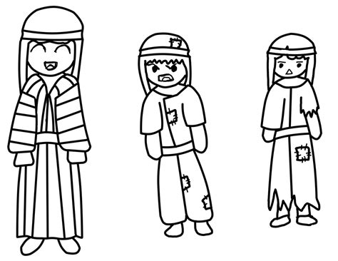 Josephs Coat Of Many Colors Coloring Page Coloring Home Free Coloring Pages Joseph Coat Many Colors