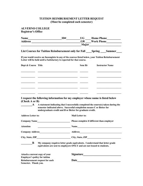 reimbursement agreement template pin letter of agreement for tuition reimbursement on