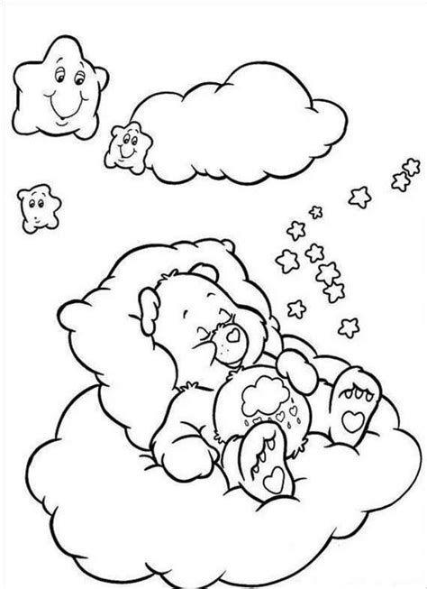 sleeping bear coloring template sketch coloring page