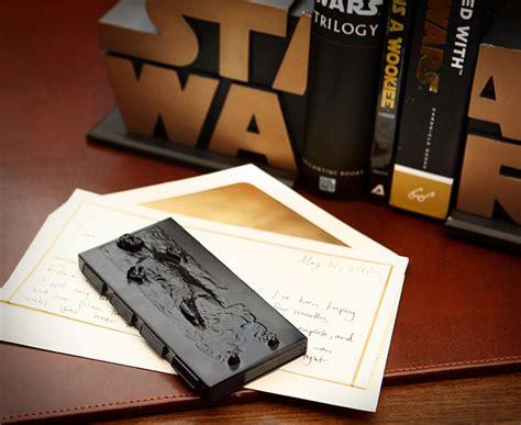 wars han in carbonite business card thinkgeek