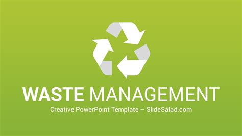 Waste Management Powerpoint Template And Infographics For Presentations Youtube Waste Management Powerpoint Template