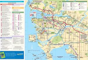 vancouver canada on world map greater vancouver tourist map