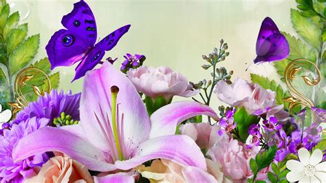 wallpaper free spring flowers butterfly thing google search beautiful wallpapers and