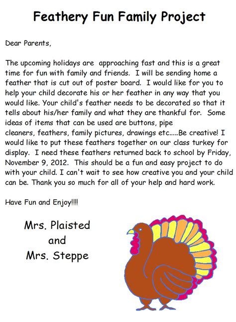 Parent Letter For Thanksgiving Feast 2 Teach Kinder Giving Thanks In Kindergarten