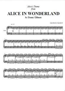 danny elfman freed mp3 alice in wonderland music box piano sheet music