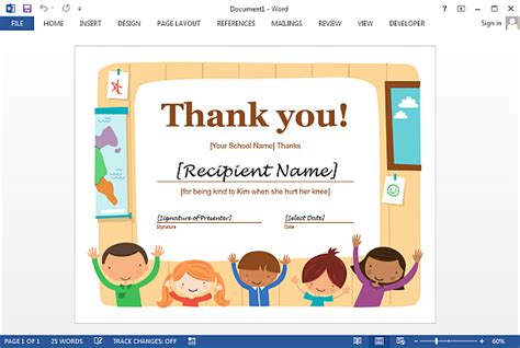 free thank you certificate templates best certificate templates for word