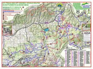 grand mesa colorado map grand mesa area atv trails maplets