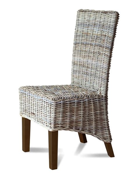Grey Rattan Dining Chairs Kubu Grey Rattan Dining Chair Casa Furniture Uk