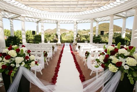 delmar events red black and white wedding ceremony
