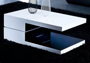 contemporary coffee tables white and black rectangular high gloss contemporary coffee